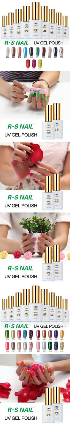 R.S 15ml 3 step soak off long lasting uv gel nail polish set gel lucky set of nail uv nail colors lacquers varnish professional