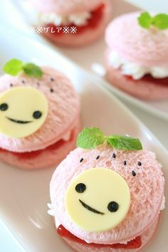 Cute strawberry sandwich