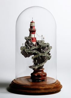 Bell jar lighthouse
