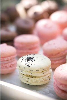 Pink strawberry & Tahitian Vanilla Macarons