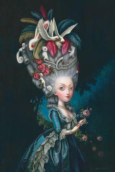 Marie Antoinette à la Rose by Benjamin Lacombe