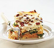 Butternut Squash, Caramelized Onion, and Spinach Lasagna Recipe | MyRecipes.com