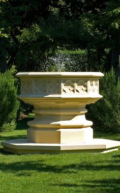This majestic Gothic Fountain lends serenity and grace to your garden with its soothing water feature.