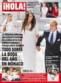 En ¡HOLA!: Todo sobre la boda del año en Mónaco. La princesa Carolina, una radiante madrina en la boda de su hijo Andrea Casiraghi y Tatiana Santo Domingo