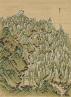 법계성범수륙승회수재의궤 (法界聖凡水陸勝會修齋儀軌) 보물(寶物) 제1948호법계성범수륙승회수재의궤」는 ... Korean Painting, Fantasy Map, Korean Artist, The Republic, Ink Painting, Art Museum, Art History, Landscape Paintings, City Photo