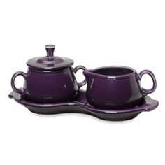 Fiesta® Sugar and Creamer with Tray in Plum - BedBathandBeyond.com