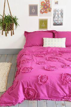 Plum & Bow Frayed Rose Duvet Cover