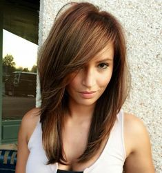 hair lengths for face shape ; hair lengths for face shape round ; hair lengths for face shape oval ; Mid Hairstyles, Pretty Hairstyles, Straight Hairstyles, Layered Hairstyles, Trending Hairstyles, Hairstyles With Side Bangs, Medium Long Hairstyles, Side Bang Haircuts, Teenage Hairstyles