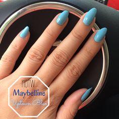 #NOTW - Maybelline Uptown Blue   #maybelline #uptownblue #manicure #nailsoftheweek #nails