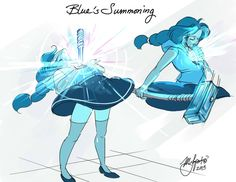 Steven Universe: Blue's Summoning by Rice-Lily on DeviantArt