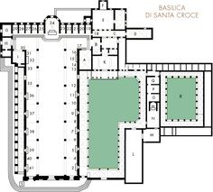 Santa Croce, Church and Museum Construction, Modern Architecture, Art History, Medici, Floor Plans, Firenze, Statue, How To Plan, Santa