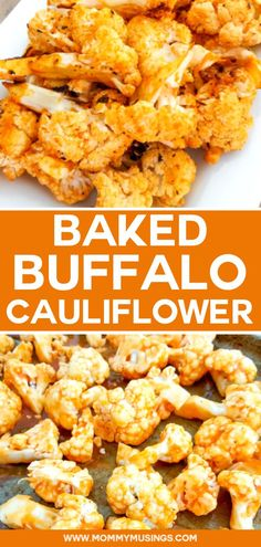 These baked Buffalo Cauliflower bites are healthy, delicious, and make a great party appetizer for vegetarians and meat eaters alike! #appetizers #cauliflower #partyappetizer #vegetarian #healthyrecipes