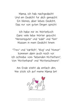 The most beautiful sayings and poems for Mother& Day- Die schönsten Sprüche und Gedichte zum Muttertag The most beautiful sayings and poems for Mother& Day - Mother Poems, Mothers Day Poems, Kids Poems, Mother Day Gifts, Diy Gifts For Dad, Diy Gifts For Friends, Easy Diy Gifts, Diy Mother's Day Decorations, Mothers Day Classic