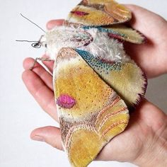 """So in love with these cute fluffy moths by Yumi Okita. ☁️ #textiles…"