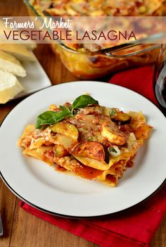Farmers Market Vegetable Lasagna | iowagirleats.com