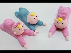 Cómo hacer bebes modelados en fondant o masa elástica. How to make a fondant baby - YouTube
