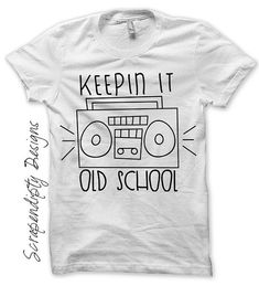 Rock and Roll Iron on Transfer - Boombox Shirt / Kids Boys Clothes / Keepin it Old School Tshirt / Baby Ghetto Blaster Shirt IT171 on Etsy, $2.72 AUD