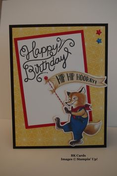 FMS #297, Foxy Birthday by BK cards - Cards and Paper Crafts at Splitcoaststampers