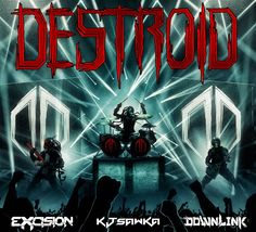 Damn, this song woke me up. Destroid, which consists of Excision, Downlink, and Space Laces released their third track, Crusaders. Now individually all three of these guys are amazing producers and have unique style that they're known for.  As Destroid though their sounds fuse together and take their music to the next level. Crusaders is a dirty, grimey, yet smooth and melodic track that is everything I love about Dubstep and more.