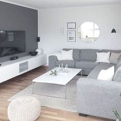 Living Room On A Budget, Living Room Grey, Small Living Rooms, Home Living Room, Apartment Living, Living Room Designs, Living Room Decor, Living Room Paint, Apartment Ideas