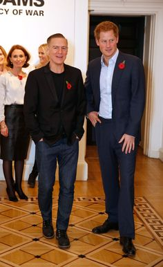 Photographer Bryan Adams and HRH Prince Harry attend the private view of 'Wounded: The Legacy of War' at Somerset House on Remembrance Day, November 11, 2014 in London, England. The photography exhibition by Bryan Adams of young wounded servicemen and women from the Iraq and Afghanistan conflicts opens to the public on Wednesday 12th November and runs until Sunday 25th January 2015.