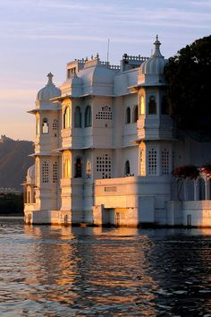 Jag Nivas or Lake Palace - Udaipur, Rajasthan. This Royal Palace was built on natural foundation of 4 acres rock island. It was built in early century by Maharaja Jagat Singh, member of the Royal dynasty of Mewar, as the Royal Summer Palace. Varanasi, Agra, Udaipur India, India India, India Palace, India Tour, Jaipur, The Places Youll Go, Places To Visit