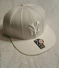 New Era 59Fifty New York Yankees All White Fitted Hat. (SEE ITEM VIDEO) #NewEra #BaseballCap #Yankees #Yankees #cap #hat