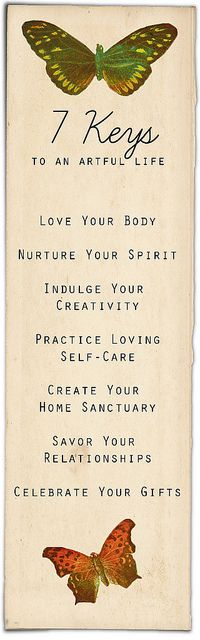 7-keys-to-an-artful-life by the_artful_life, via Flickr