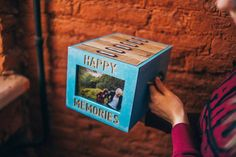 Mix-and-match photo box with 6 photo albums and front photo frame by Cocochnik…