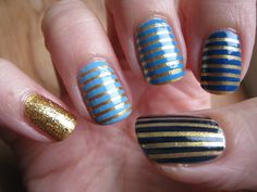 Stripey Skittles - Blue and Gold