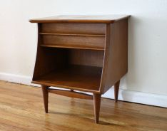 Mid century modern side end table from the Kent Coffey Foreteller collection