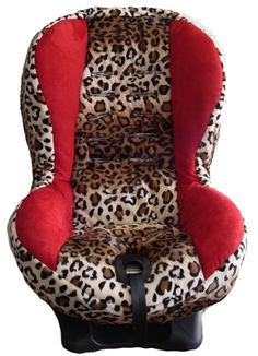 girly car accessories red childs red and leopard print toddler car seat cover boy