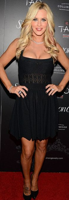 Who made  Jenny McCarthy's black dress that she wore in Las Vegas?
