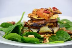 Roasted Vegetable, Goji Berry and Walnut Stack... - Vegie Head