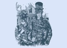 """American Steampunk"" - Threadless.com"