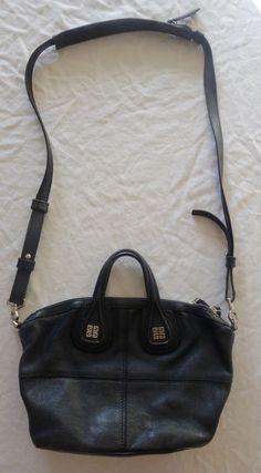 ~AUTHENTIC $1,790 GIVENCHY BLACK LEATHER MICRO NIGHTINGALE CROSS BODY BAG ~ #GIVENCHY #CROSSBODY