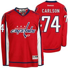 NHL Washington Capitals 74 John Carlson Mens Premier Jersey Red color Size S * Be sure to check out this awesome product.