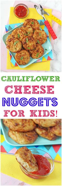 Delicious vegetarian nuggets for kids packed with super nutritious cauliflower!
