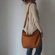 ed31a61be9 THE SIZE SHOWN IN PICTURES IS THE MEDIUM HOBO BAG. HELEN leather bag is a  light hobo bag made from soft Italian pebbled leather. A leather purse that  can be ...