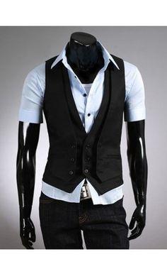 Pure Color Double Vest