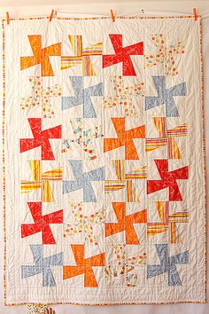 Windmill quilt by You Had Me At Bonjour