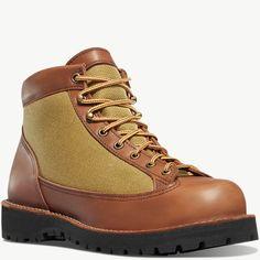Danner - Danner Light II Dark Brown Nylons, Waterproof Liner, Ankle Boots Men, Color Khaki, Wide Feet, Gore Tex, Snug Fit, Hiking Boots, Footwear