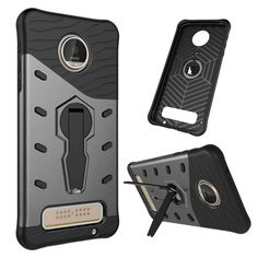 >> Click to Buy << For Motorola Moto Z Play Droid XT1635 Case TPU+PC Armor Phone Bag Case + 360-degree rotation Holder Case Cover For Moto Z Play #Affiliate