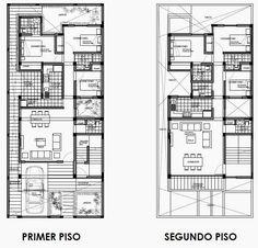 Dos Opciones De Vivienda Bifamiliares En Terreno De 9 X 20 M. Diseñadas Por  Oniria