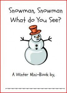 free snowman snowman what do you see printable book from playing with words 365