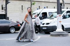 Celebrities at Couture Street Style - Paris Couture Fashion Week Street Style - Elle