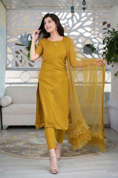 Silk Kurti Designs, Simple Kurta Designs, Kurta Designs Women, Kurti Designs Party Wear, Blouse Designs, Churidar Designs, Latest Salwar Kameez Designs, Casual Indian Fashion, Indian Fashion Dresses