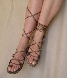 Griechische Sandalen aus Leder - Glory von Calpas auf DaWanda.com