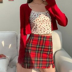 Kpop Fashion Outfits, Ulzzang Fashion, Indie Outfits, Korean Outfits, Retro Outfits, Girly Outfits, Cute Casual Outfits, Skirt Outfits, Stylish Outfits