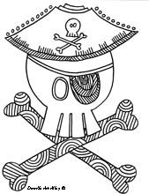Pirate Coloring Pages. free coloring pages by www.doodle-art-al. Pirate Coloring Pages, Monster Coloring Pages, Flower Coloring Pages, Animal Coloring Pages, Coloring Book Pages, Jack Le Pirate, Pirate Day, Pirate Theme, Treasure Chest Craft